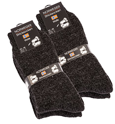 4 pares de gruesa y cálida lana calcetines para hombre
