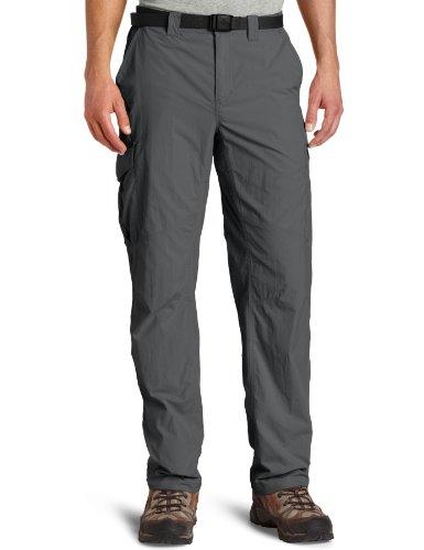 Columbia Silver, Pantalones de Senderismo para Hombre, Gris (Grill), 38W/32L