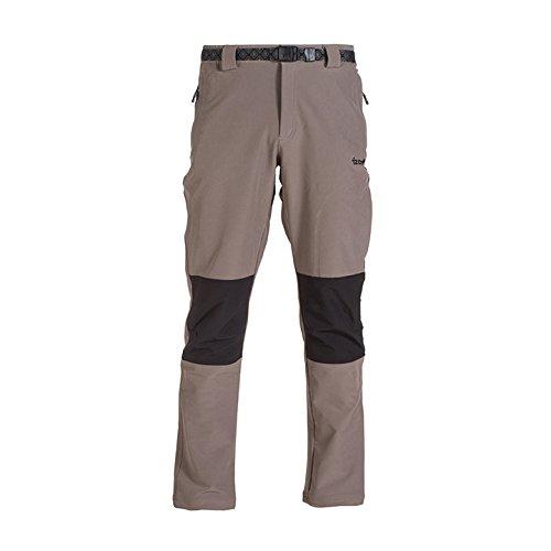 Izas Chamonix - Pantalón de montaña para hombre, color gris (steingrau)/ negro, talla M