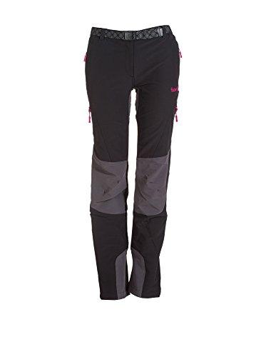 Izas Dera Pantalones de montaña, Mujer, Multicolor (Negro / Gris oscuro), XL
