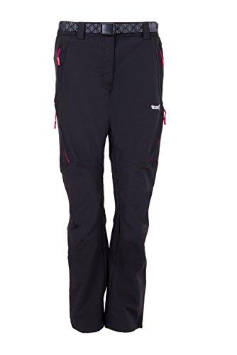 Izas Stretch Birham, Pantalón Técnico para Mujer, Negro / Fucsia, XS