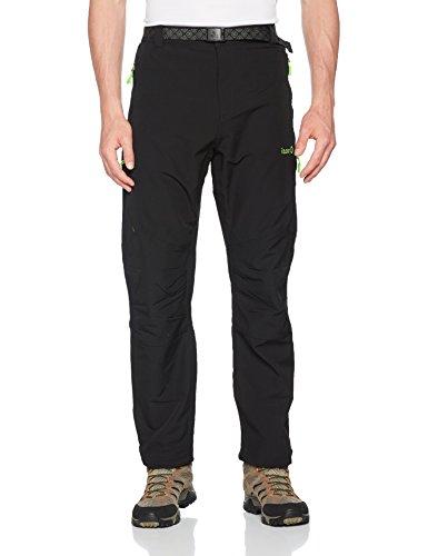 Izas Tormes Pantalón de montaña, Hombre, Multicolor (Negro/Light Green), L