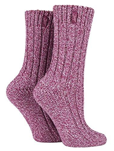 2 pack calcetines trekking gruesa lana