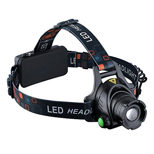 VicTsing - Linterna frontal para cabeza impermeable LED